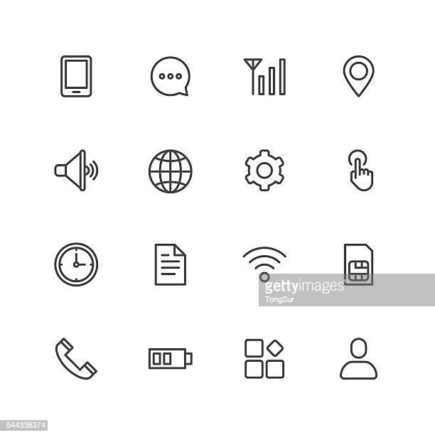 Mobile setting icons