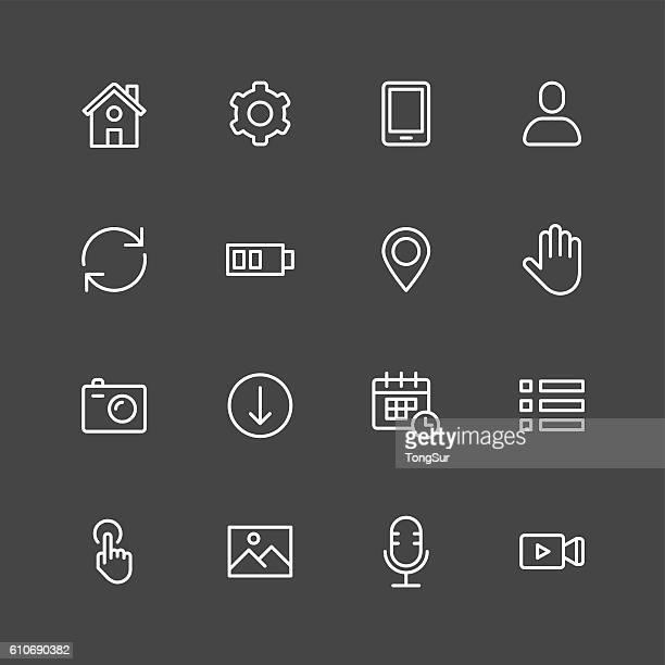 Mobile setting icons - White Series