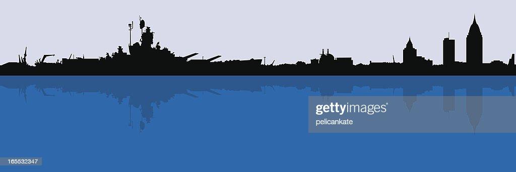 Mobile Skyline with Battleship