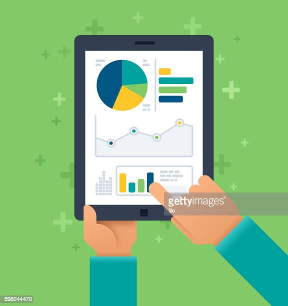 mobile statistics - analysing stock illustrations