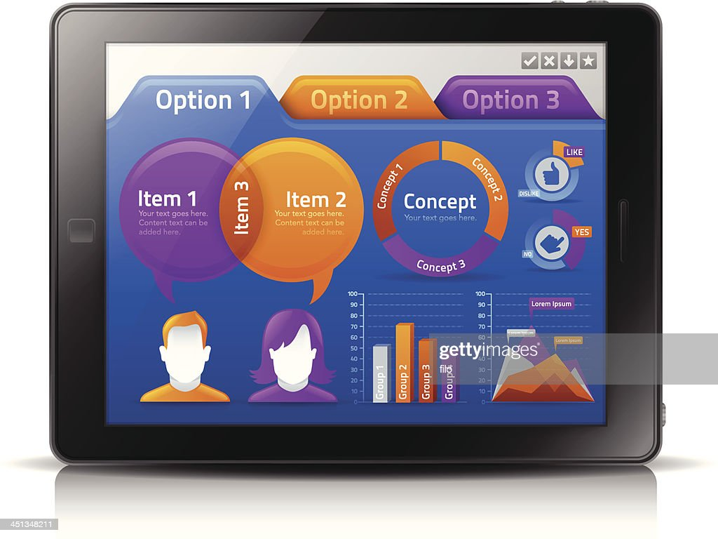 Mobile Tablet Infographic Concepts