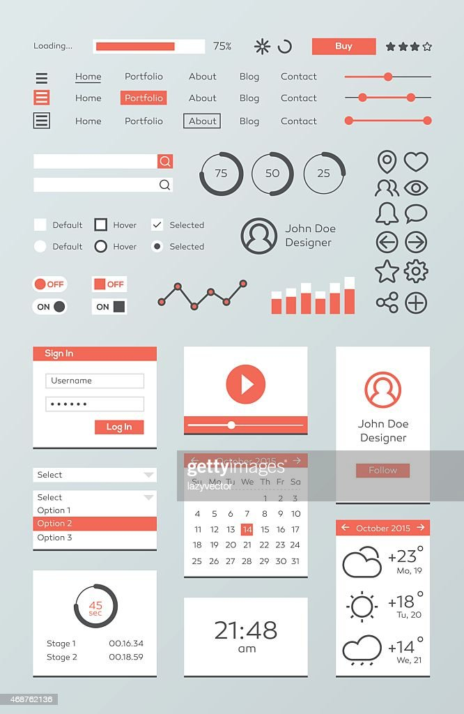 Mobile web UI infographic kit
