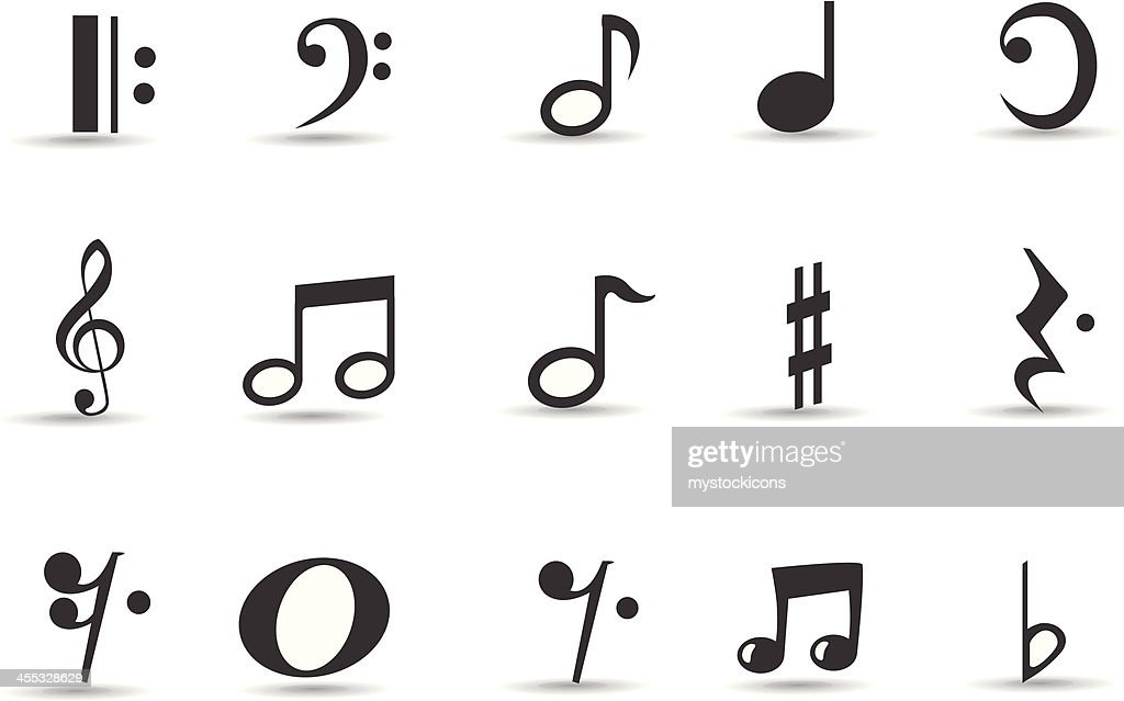 Mobilicious Musical Note Icon Set and Symbols : stock illustration