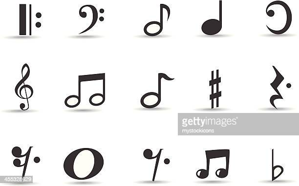 mobilicious note icon-set und symbole - treble clef stock-grafiken, -clipart, -cartoons und -symbole