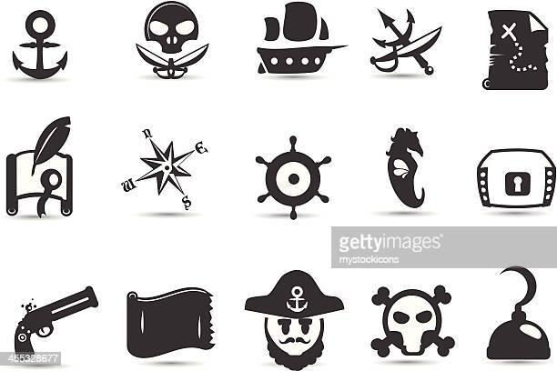 mobilicious 海賊アイコンセット - 三叉槍点のイラスト素材/クリップアート素材/マンガ素材/アイコン素材