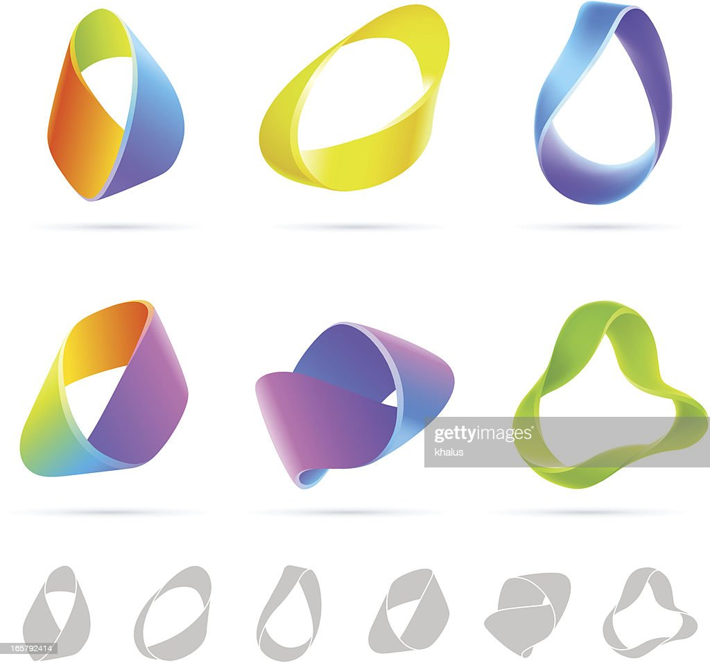 Mobius Colorful Abstract : stock illustration