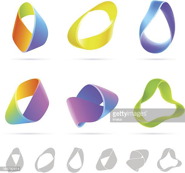 mobius colorful abstract - flexibility stock illustrations