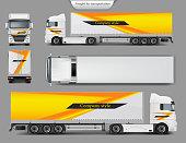 Mock up, template brand design for truck
