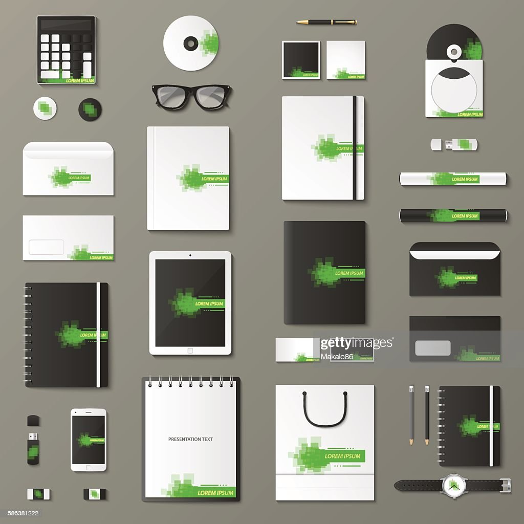 Mock up vector set.