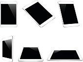 mock up white tablet isolated on white vector design