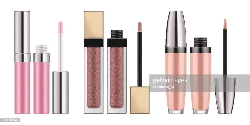Mock-up of realistic lip gloss