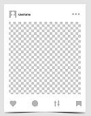 Mockup of social network photo frame