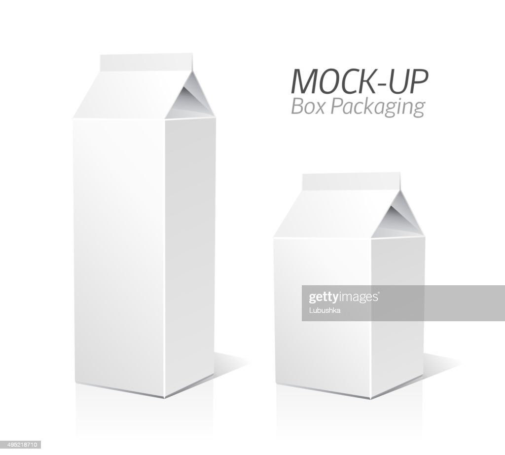 Mock-up packages. Juice and milk