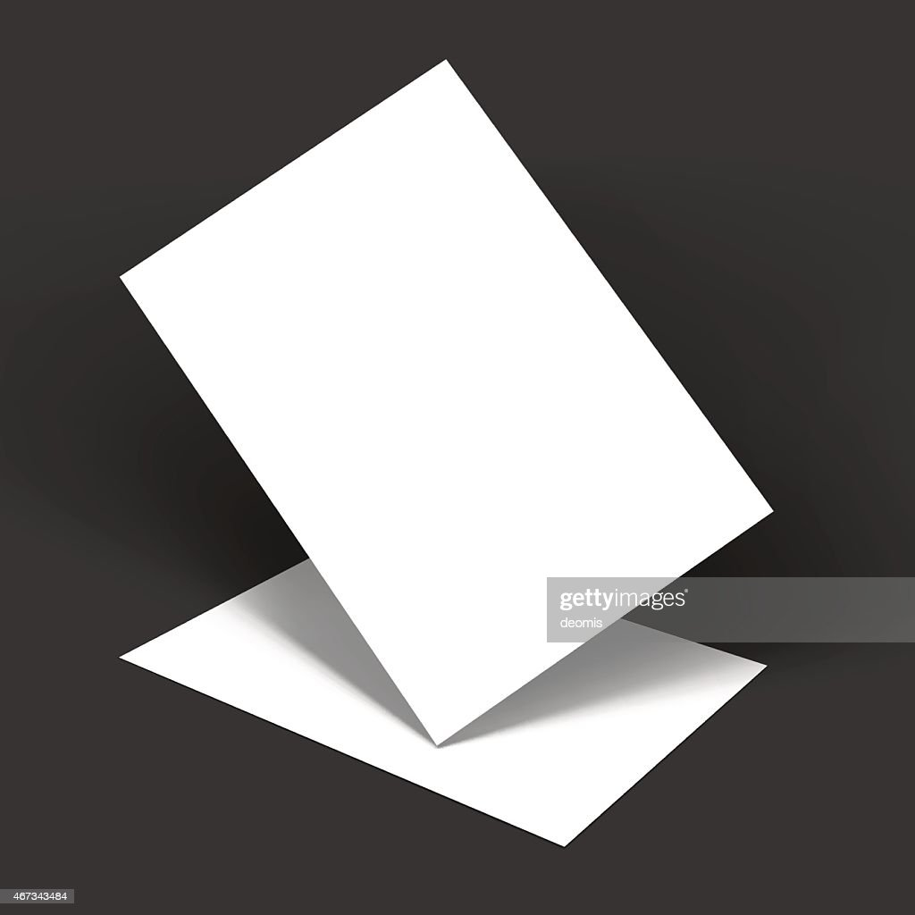 Mockup template of two white papers