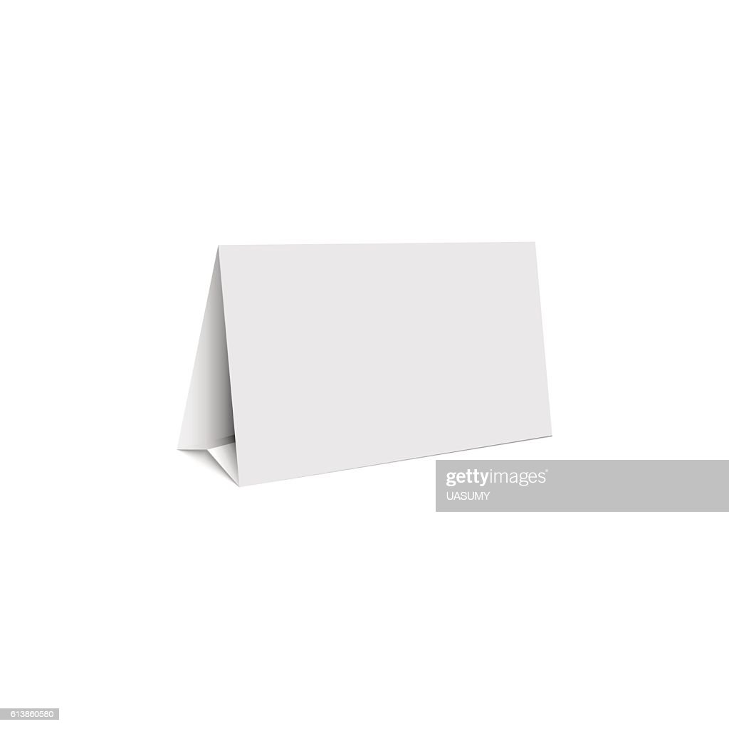 Mockup white blank promotion banner holder, isolated table stand
