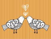 Mod Birds Kissing