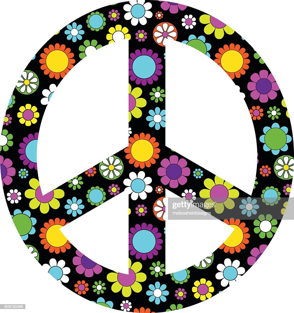 mod flower peace sign