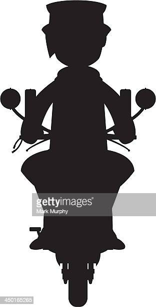 Mod on Scooter Silhouette