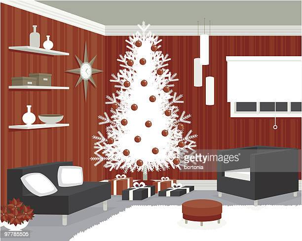 Mod Room Decorated for Christmas
