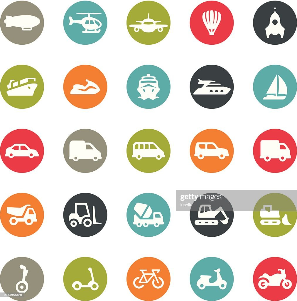 Mode of Transport icons / Ringico series