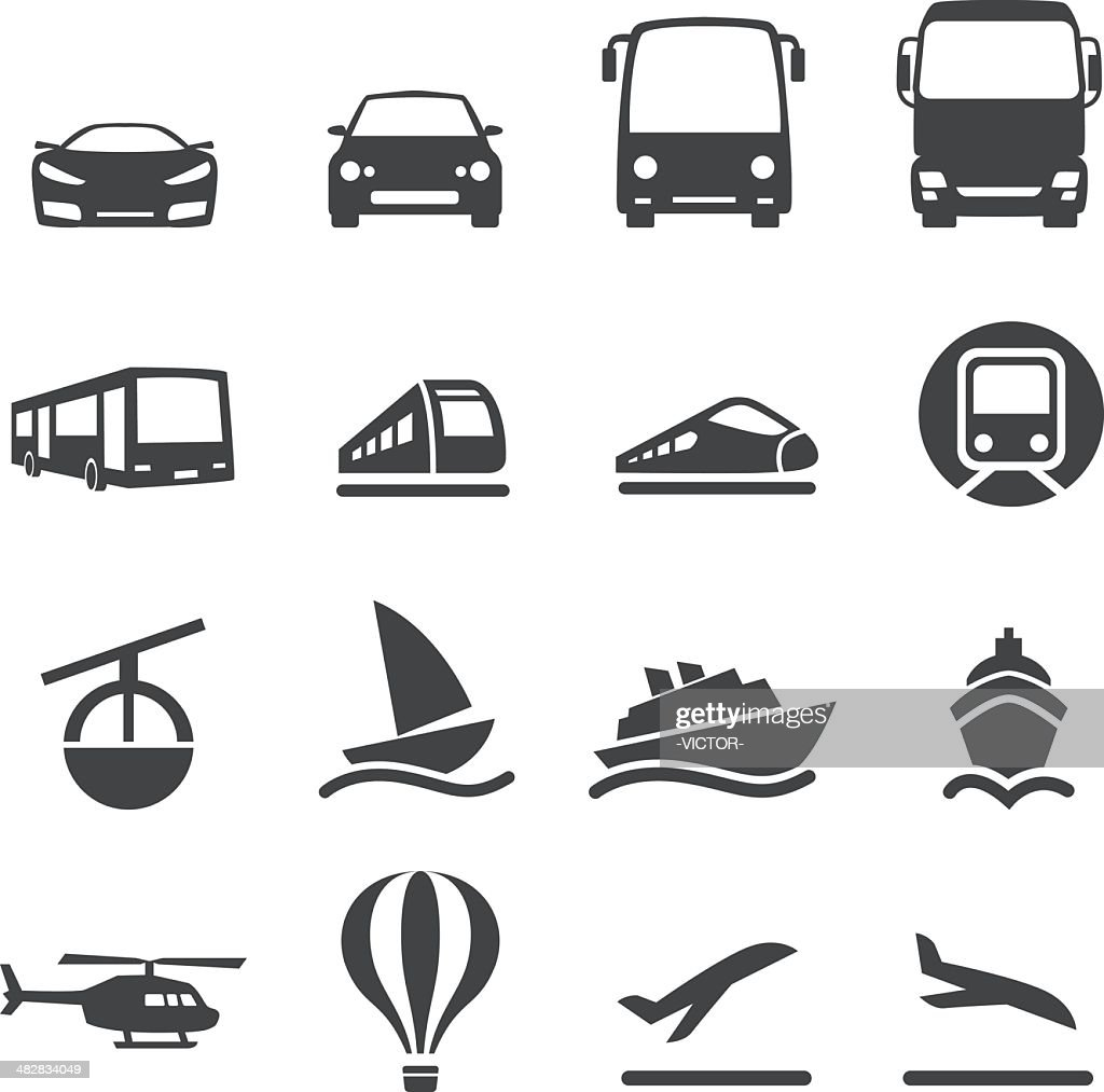 Mode of Transport Icons Set 2-Acme Series : stock illustration