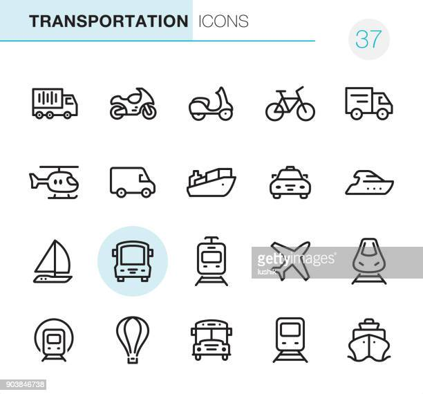 mode of transport - pixel perfect icons - train vehicle stock illustrations