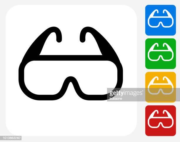 Modern 3D Glasses Icon