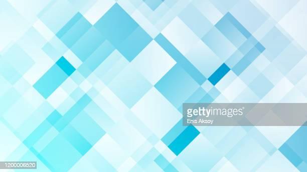 illustrazioni stock, clip art, cartoni animati e icone di tendenza di modern abstract background - quadrato composizione
