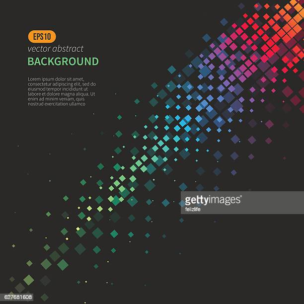 modern abstract background - square composition stock illustrations, clip art, cartoons, & icons