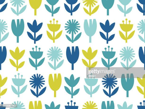 modern abstract floral seamless pattern. - graphic print stock illustrations