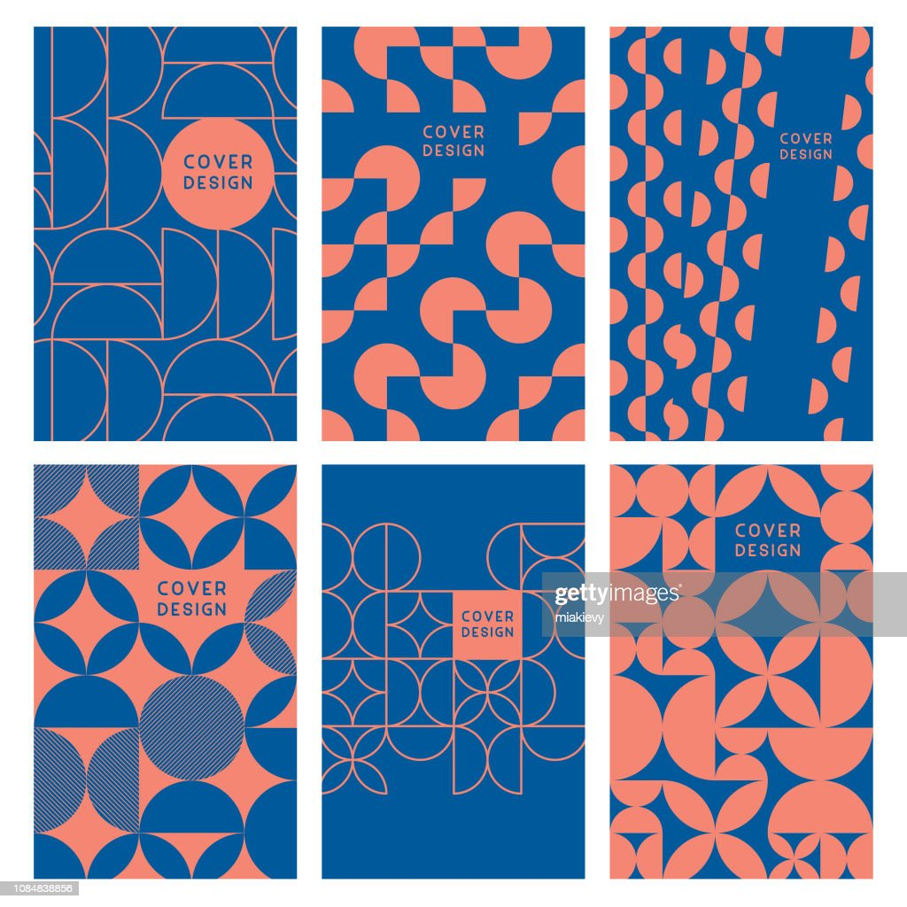 Modern abstract geometric cover templates : Stock Illustration