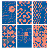 Modern abstract geometric cover templates