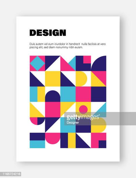 modern abstract geometric cover templates - magazine cover stock illustrations