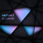 Modern abstract metal dark and colorful background - Vector