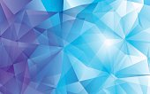 Modern abstract polygonal vector background. Blue hi-tech texture