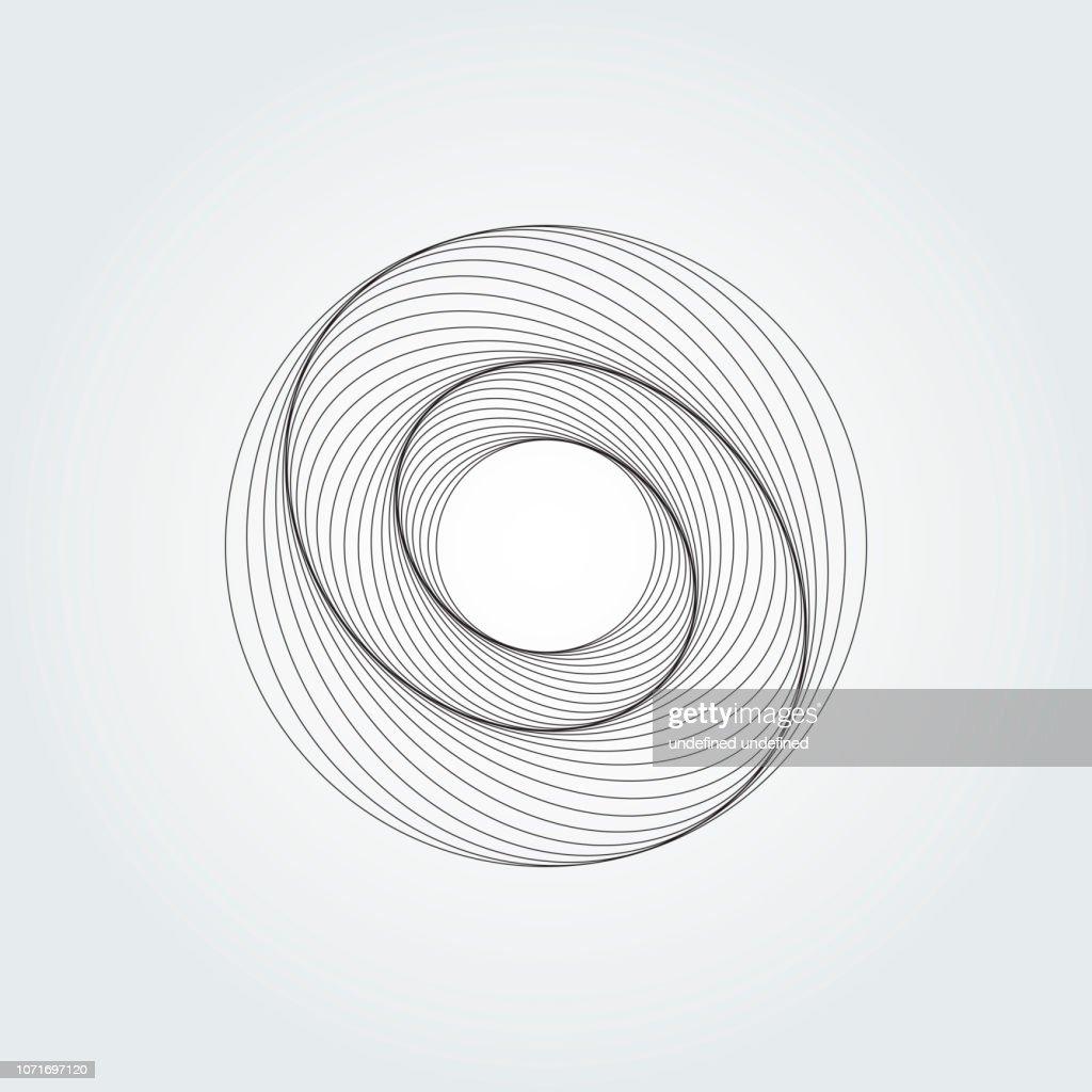 Modern abstract swirl design