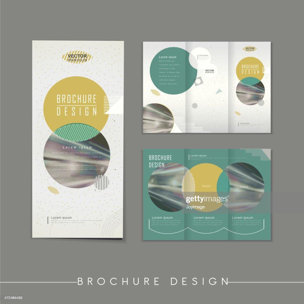 modern abstract tri fold brochure template design vector art