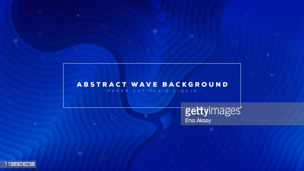 modern abstract wave paper cut fluid liquid background - red and blue background stock illustrations