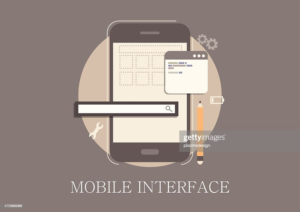 Modern and classic design mobile developer concept flat icon