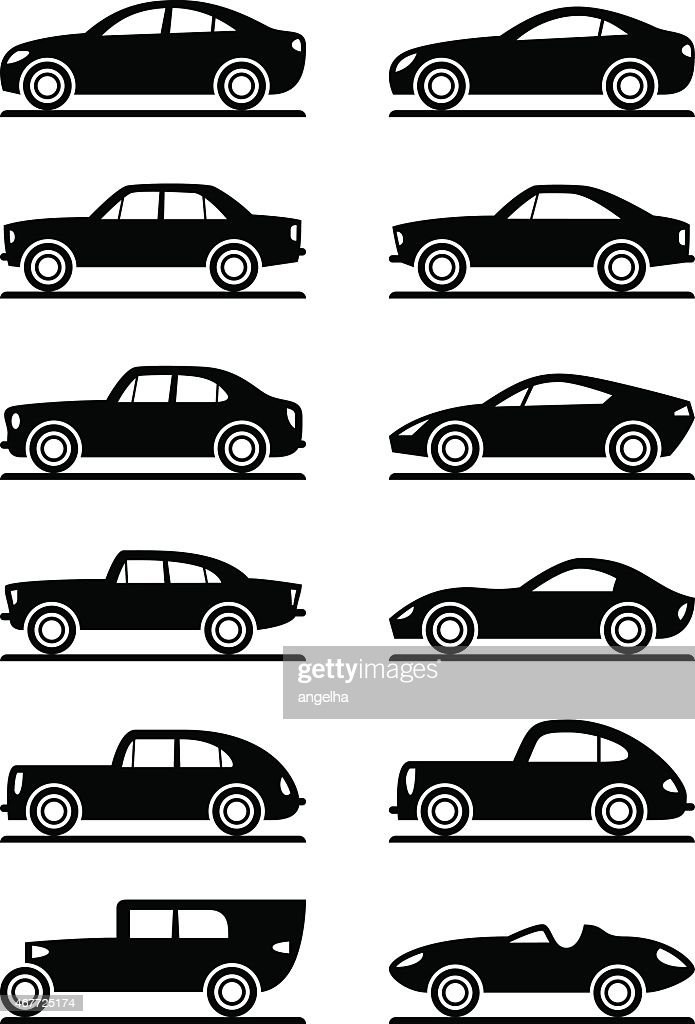 Modern and vintage cars