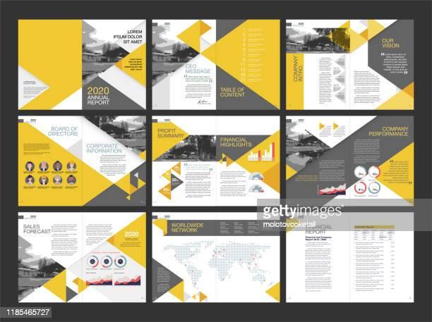 modernes geschäftsberichtslayout-design - lageplan stock-grafiken, -clipart, -cartoons und -symbole