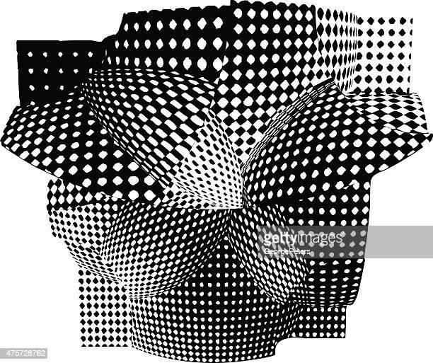 モダンな建築デザインが、ハーフトーンパターンパネル - モアレ縞点のイラスト素材/クリップアート素材/マンガ素材/アイコン素材