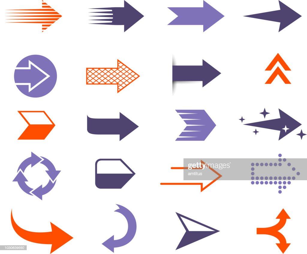 frecce moderne : Illustrazione stock