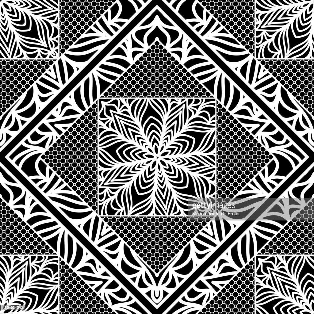 Modern Art Deco Seamless Pattern Floral Element Vector