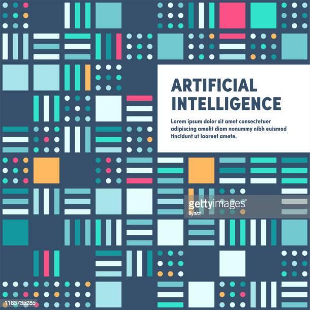 moderne künstliche intelligenz promo banner vektor design - bildschirmpräsentation stock-grafiken, -clipart, -cartoons und -symbole