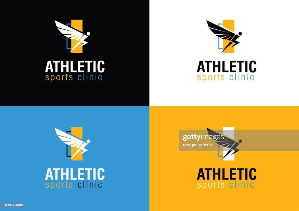 Modern Athletic Sports Clinic Branding Logo