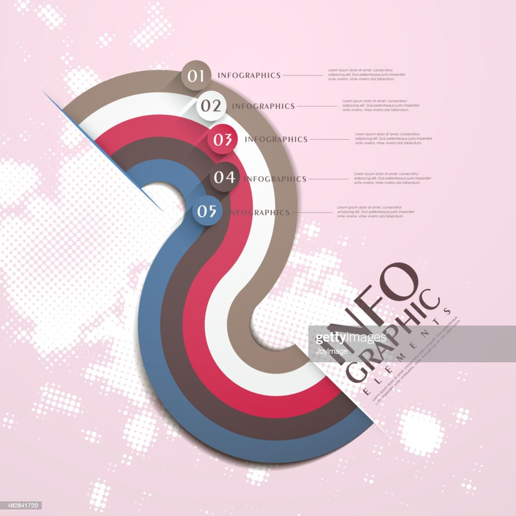 modern attractive infographic elements design