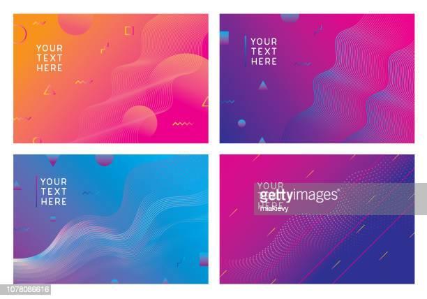 moderne hintergründe sammlung - farbverlauf stock-grafiken, -clipart, -cartoons und -symbole