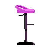 Modern bar chair flat icon