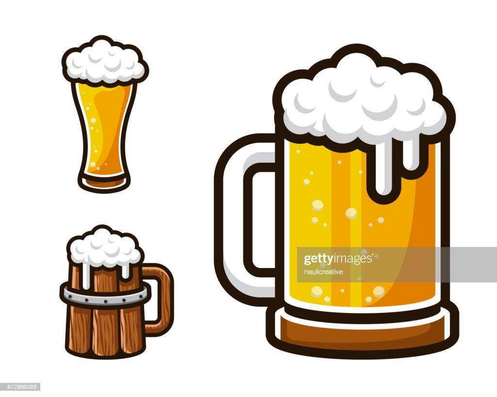 Cheap Modern Beer Graphic Asset Set Vector Art With Moderne Bder Bilder